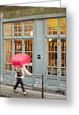 Paris Umbrella Greeting Card