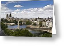 Paris View Notre Dame Greeting Card