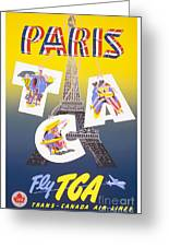 Paris Vintage Travel Poster Greeting Card