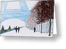 Paris Wintertime Greeting Card by Kevin Croitz
