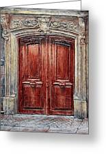 Parisian Door No. 8 Greeting Card