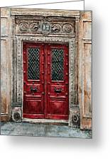 Parisian Door No.82 Greeting Card