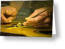 Parisian Luthier At Work Greeting Card