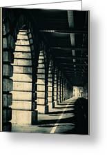 Parisian Rail Arches Greeting Card