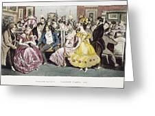 Parisian Salon, 1825 Greeting Card