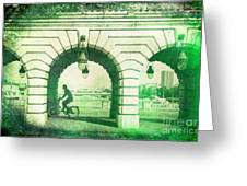 Parisien Cyclist Greeting Card