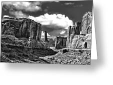 Park Avenue In Arches National Park Greeting Card