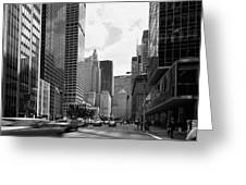 Park Avenue In New York City Greeting Card