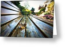 Park Bench Greeting Card by Eric Gendron
