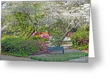 Park Bench Painting Greeting Card