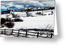 Park City Winter Landscape Greeting Card