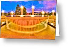 Park Fountain Greeting Card