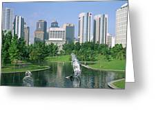 Park In The City, Petronas Twin Towers Greeting Card