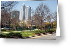 Park In Uptown Charlotte Greeting Card