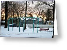 Park In Winter Greeting Card