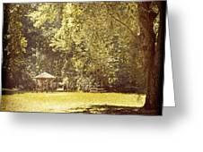 Park Shelter Filtered Greeting Card