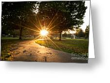 Park Sunburst Landscape Greeting Card
