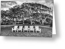 Park Under The Oaks Greeting Card by Debra and Dave Vanderlaan