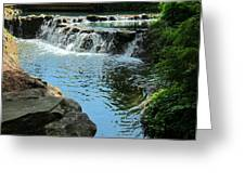 Park Waterfall Greeting Card