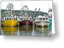 Parked Fishing Boats Greeting Card