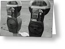 Parking Meters Greeting Card