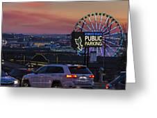 Parking Wheel Greeting Card