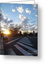 Parkway Sunset Greeting Card