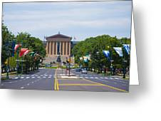 Parkway View Of The Museum Of Art Greeting Card