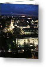Parlament Quebec At Night  Greeting Card