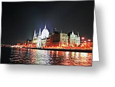 Parliament And The Danube Greeting Card