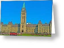 Parliament Building In Ottawa-on Greeting Card