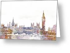 Parliament Color Splash Greeting Card