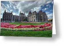 Parliament Garden Budapest Greeting Card