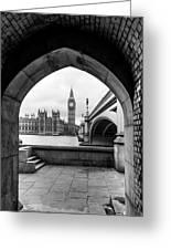 Parliament Through An Archway Greeting Card