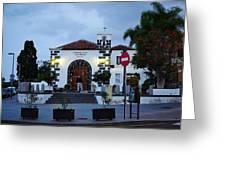 Parraquia De San Amaro. Puerto De La Cruz By Night Greeting Card