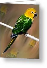 Parrot Beauty Digital Artwork Greeting Card