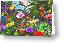 Parrot Jungle Greeting Card