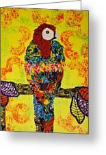 Parrot Oshun Greeting Card