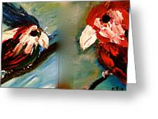Parrots Greeting Card by Pretchill Smith