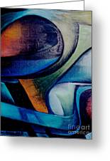 Part Of An Abstract Painting Greeting Card