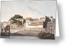 Part Of The City Of Patna, On The River Greeting Card