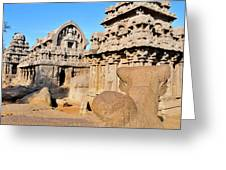 Part Of The Five Rathas Complex Greeting Card