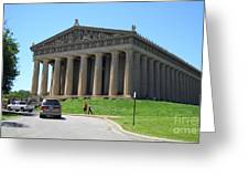 Parthenon In Nashville Greeting Card by Paula Talbert