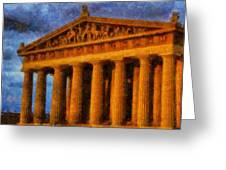 Parthenon On A Stormy Day Greeting Card