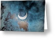Partial Solar Eclipse In Cloud 1 Oct Greeting Card
