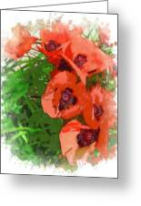 Partial To Poppies Greeting Card
