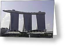 Partial View Of The Artscience Museum And The Marina Bay Sands Greeting Card