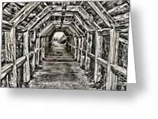 Partington Cove Tunnel By Diana Sainz Greeting Card