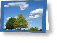 Partly Cloudy Day Greeting Card