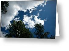 Partly Cloudy Forest Skies Greeting Card